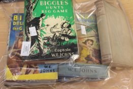 Collection of eight Biggley and Worrals 1930s and 40s books
