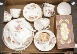 Collection of Royal Crown Derby posie pattern tea set items and boxed posie