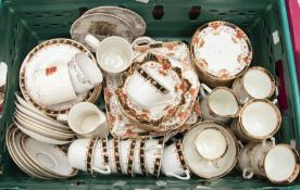 An early 20th Century Sutherland china part tea service pattern no: 1105 to include: 8 cups, 12