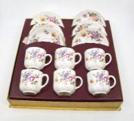 Mid 20th Century boxed Royal Crown Derby posie tea set unused