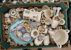 Large collection of Goss ware in large vases and loving mugs, dressing table set, tea set etc