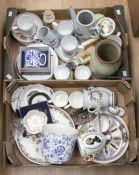 Collection of Coalport, Spode, Royal Crown Derby, Denby, Royal Worcester, Evesham dishes, pots,