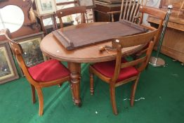 A Victorian mahogany dining table leaf and key