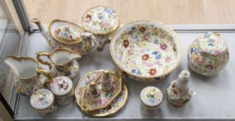 Collection of Hammersley China wares Floral with Gilt