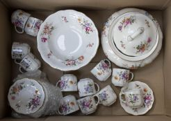 Collection of Royal Crown Derby posie pattern chinawares including coffee cups, tureen, bowls etc