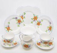 A mid 20th Century Tuscan hand painted tea set