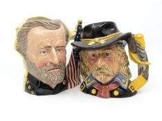 Four Royal Doulton Character Jugs with Boxes ie Glenn Miller, General Custer, The Antagonists