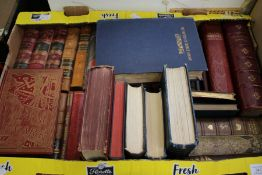 A collection of 19th Century and early 20th Century books, some leather bound, including Disraeli,