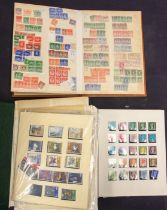 Great Britain 100's QV to QE in two albums and stockbook, good range 1d red plates, seahorses to