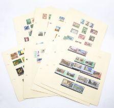 British Commonwealth, few 100's including Ceylon 1935, 1938 sets, Fiji 1954 set, GIB 1953, 1960 sets