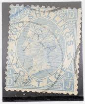 GB SG 120b 1867 2/= milky blue, Sunderland, 1879 CDS rare shade