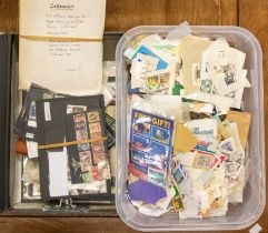 World ranges in box file and plastic tub. Much on paper with interesting items