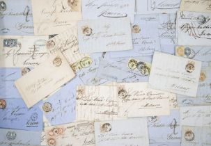 Austria, approx 50 19th Century covers / entries, destinations including Genoa, Treviso, Milan,