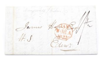 GB 1822 stampless entire Dingwall to Eden, interesting contents