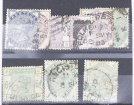 GB SG 94 196 1883 lilac and green set no 9d, the greens with lovely stong colours