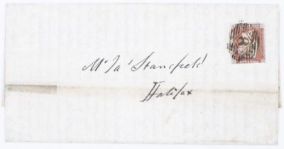 GB 1845 entire London to Halifax from the conman Joseph Ady, a precursor of todays scammer! rare