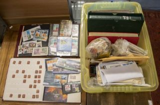 Crate of mainly GB stamps from 1840 1d, useful QV to 10/2, Rauge KGS seahorses, later with FDC's etc