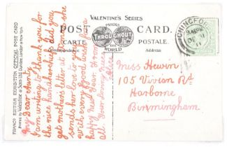 GB small range 7 picture post cards bearing KED ½d green inc Harrison bright green, Franco British