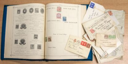 Potentially valuable range in tidy 1894 Imperial album including good mint Belgian, USA, Columbus to