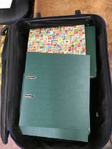 Large heavy lot in two suitcases and one bag, including Charles and Di Wedding in four volumes, GB