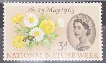 GB SG 637 nature week 3d caterpillar flaw UN/M