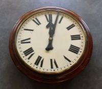 A large 19th cent Fusee wall clock 32inch dial Good condition original fusee movement, working