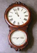 A scarce Double dial calendar wall clock by Seth Thomas