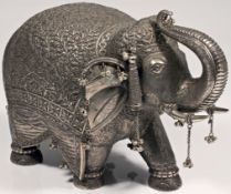 DECORATIVE SILVER ELEPHANT