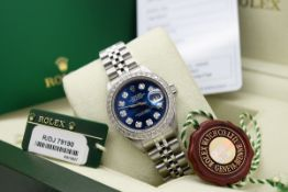 Ladies Rolex Datejust 26mm (Navy Blue Diamond Dial) with Boxset and Authenticity Card