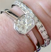 Beautiful Platinum Diamond Ring Set - Solitaire (VVS1) & Band Over 1ct Total (£7,937 Valuation)