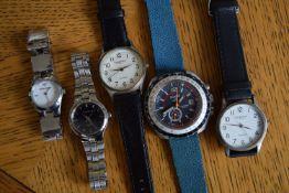 Joblot of Watches - Includes Sicura 17 Jewel Chrono + Armani etc