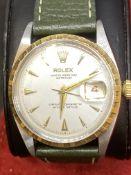 ROLEX STEEL & GOLD DATEJUST WATCH