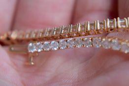 5ct Diamond (Approx) 18k Rose Gold Bracelet
