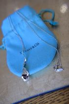 """Tiffany & Co. Sterling Silver Frank Gehry """"""""Orchid Twist Drop"""""""" Necklace"""