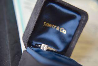 Tiffany & Co. Platinum 'Radiant Cut' Diamond Ring - VS1 / I