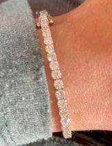 5.00ct DIAMOND TENNIS BRACELET IN WHITE GOLD (ROUND BRILLIANT CUT SI/ F)