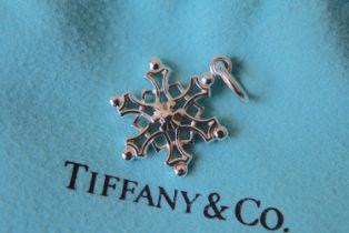 "Tiffany & Co. Sterling Silver """"Snowflake"""" Charm"
