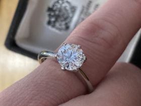 1.60CT PLATINUM DIAMOND RING (SOLITAIRE)