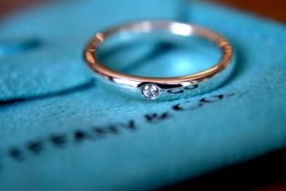 Diamond Tiffany & Co. Sterling Silver Elsa Peretti Ring (Size J)
