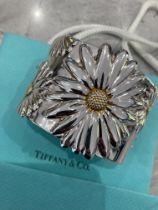 """*Rare* Tiffany & Co. 925 Sterling Silver """"""""Daisy"""""""" Cuff Bangle"""