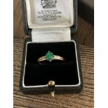 EMERALD GOLD RING - SIZE P /12