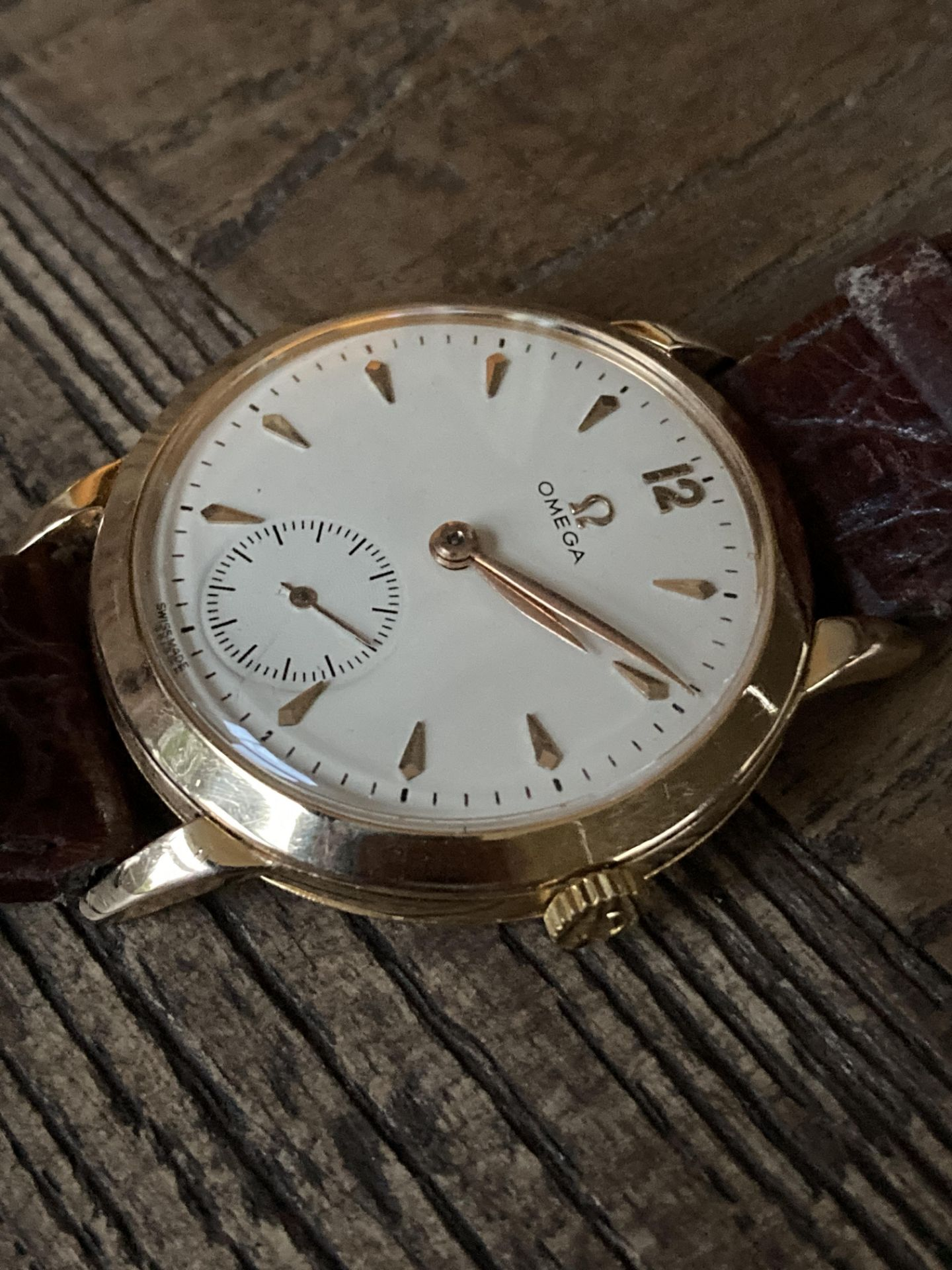 GOLD OMEGA DRESS WATCH - 35mm - Image 3 of 3