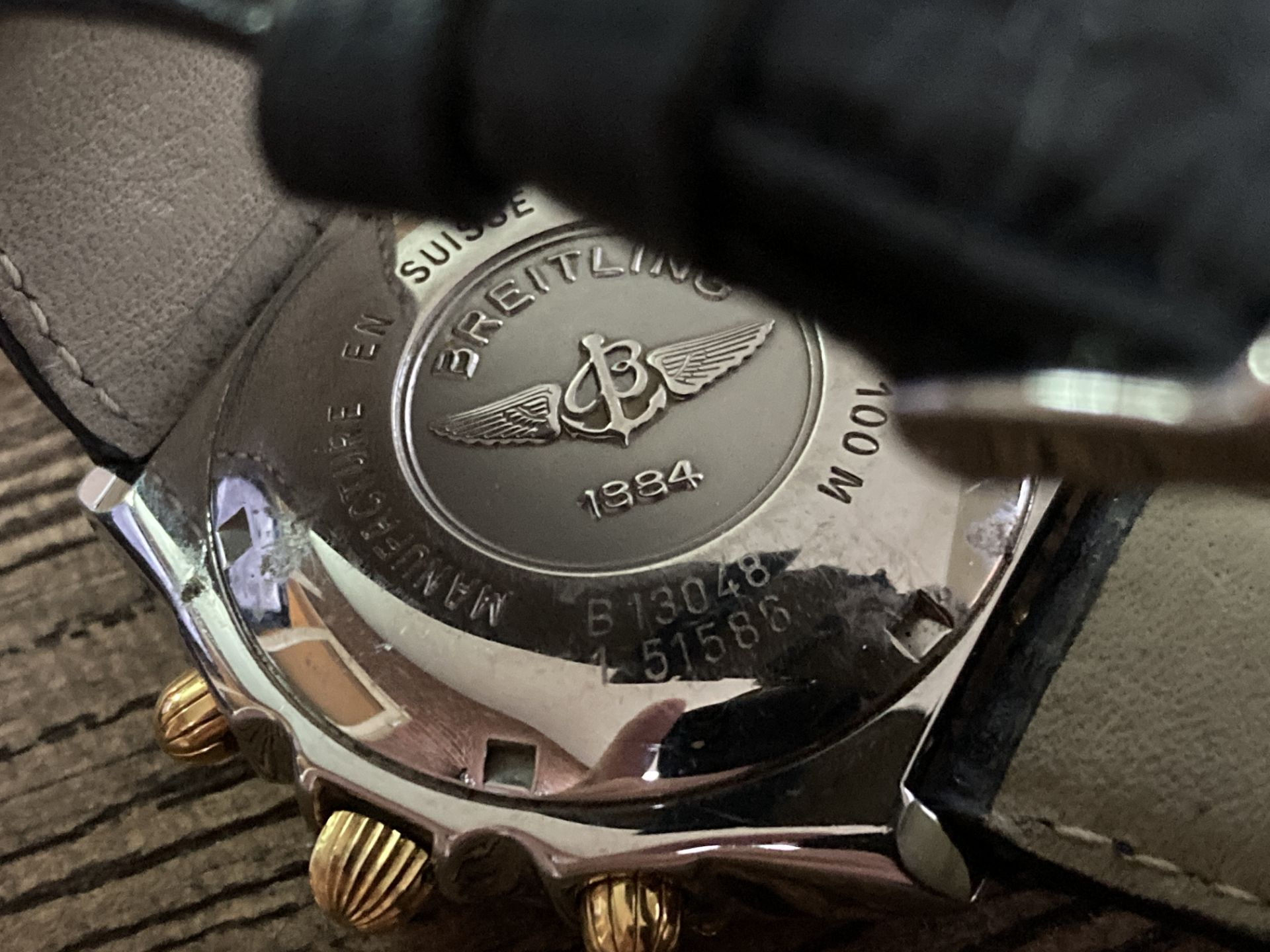 BREITLING B13048 STEEL AND GOLD CHRONO - 39MM APPROX. - Image 3 of 3