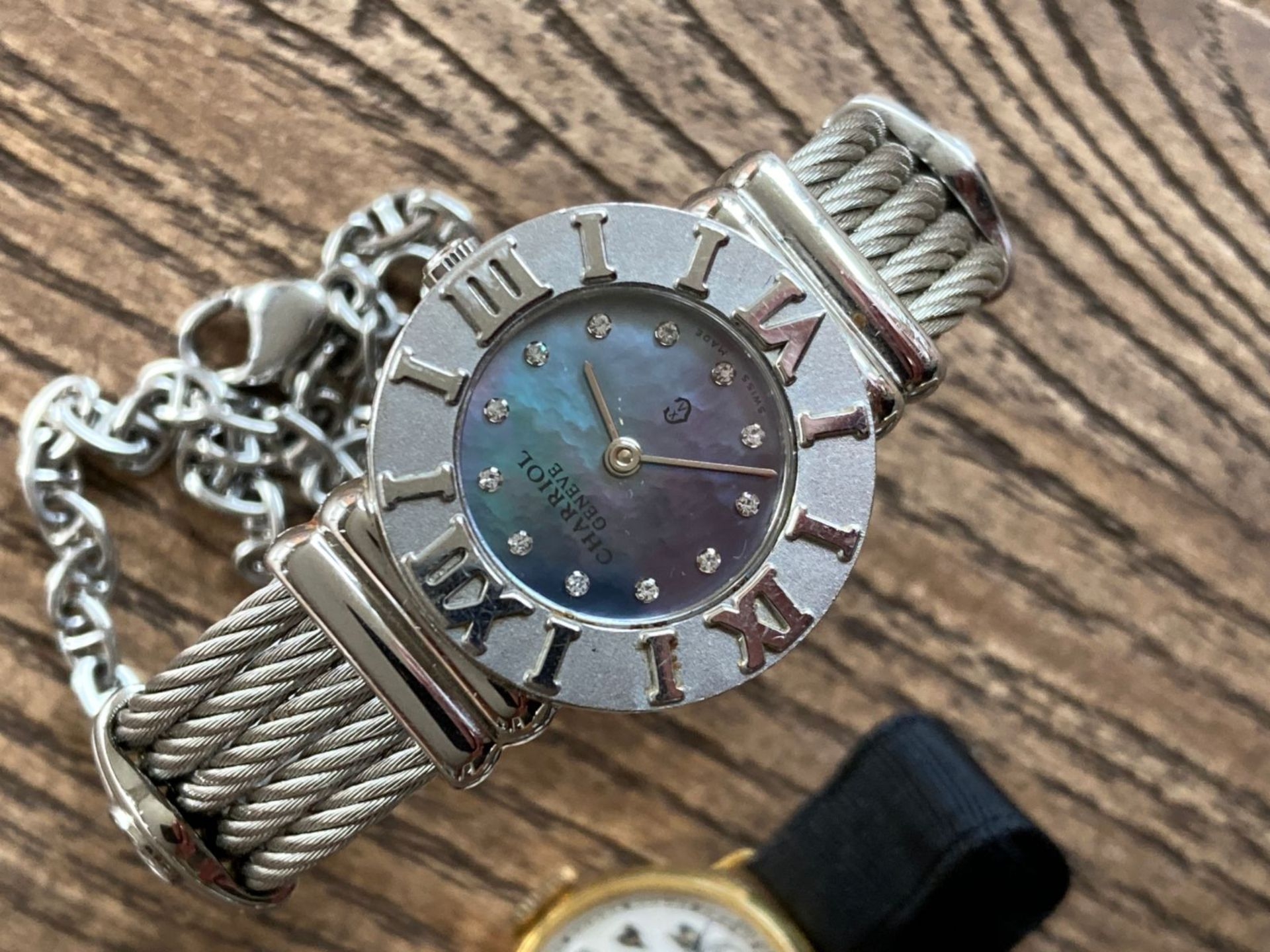 MIXED WATCHES INC MAURICE LACROIX STEEL AND GOLD, CHARRIOL DIAMOND SET ETC - Image 3 of 3
