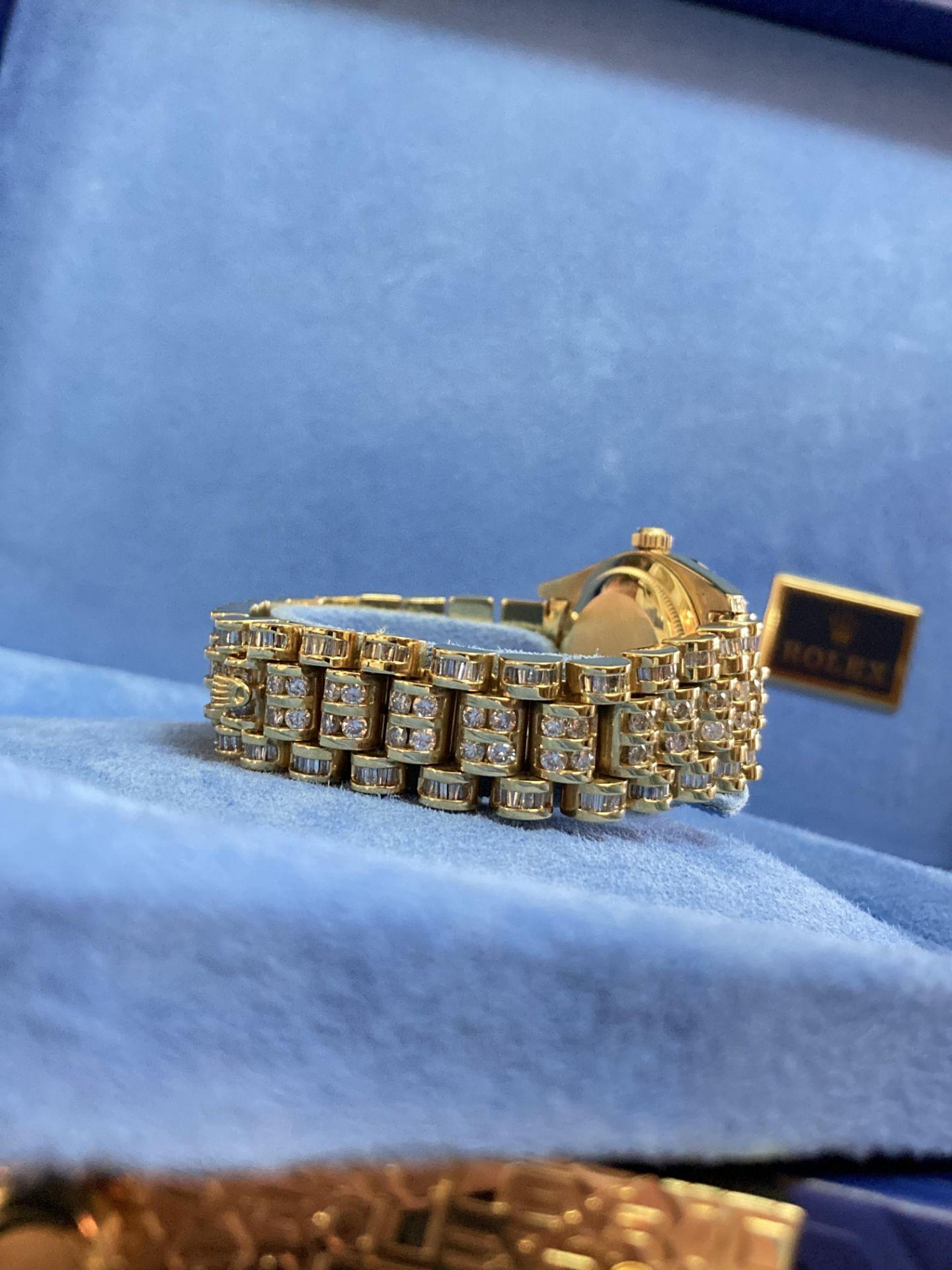 GENTS 36mm ROLEX DAYDATE YELLOW GOLD DIAMOND WATCH - Image 11 of 21