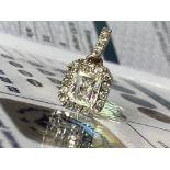 1.05CT DIAMOND PENDANT - 18K WHITE GOLD (WGI CERTIFICATE)
