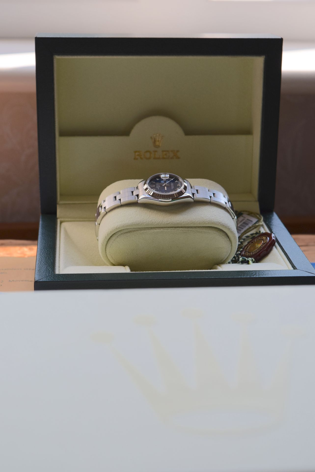 *FULL SET* ROLEX DATEJUST (LADIES) STEEL & 18CT WHITE GOLD - NAVY BLUE 'ROMAN NUMERAL' DIAL - Image 6 of 19