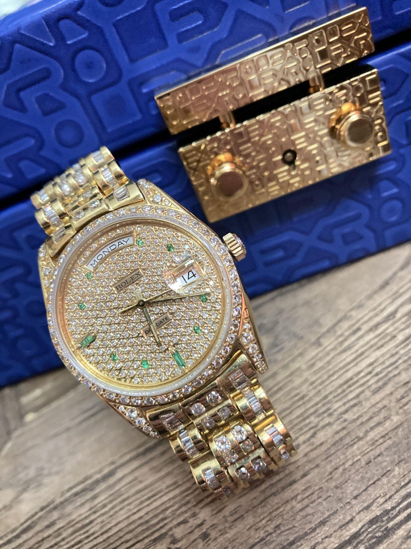 GENTS 36mm ROLEX DAYDATE YELLOW GOLD DIAMOND WATCH - Image 21 of 21