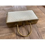 OSTRICH LEATHER METAL CASE