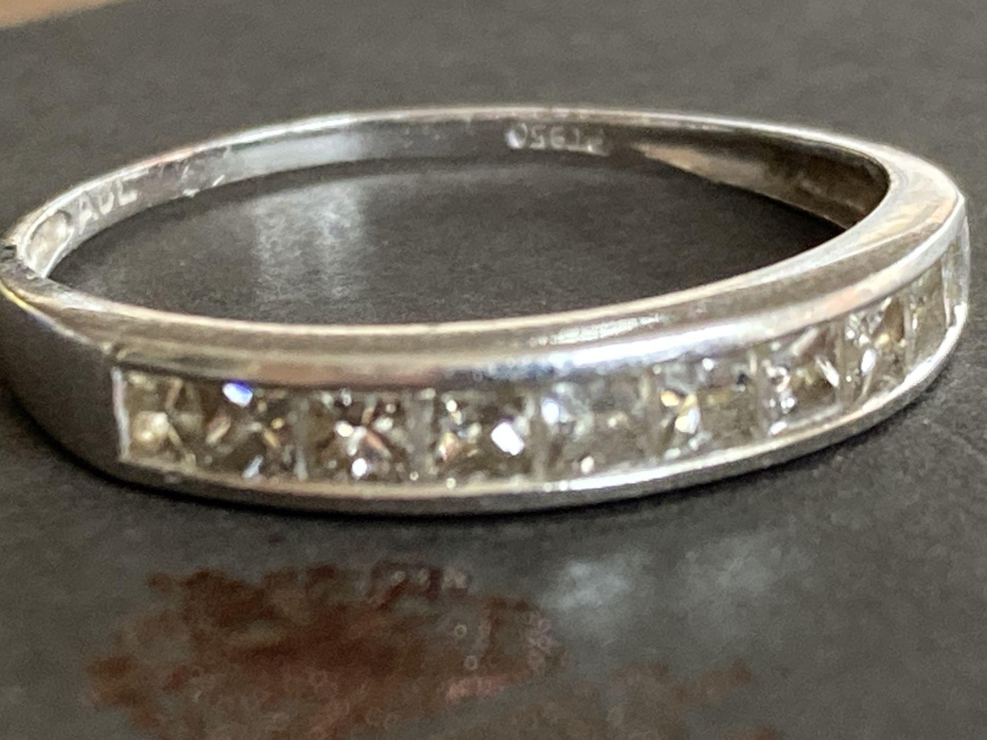 PLATINUM 0.5CT DIAMOND RING - Image 2 of 2